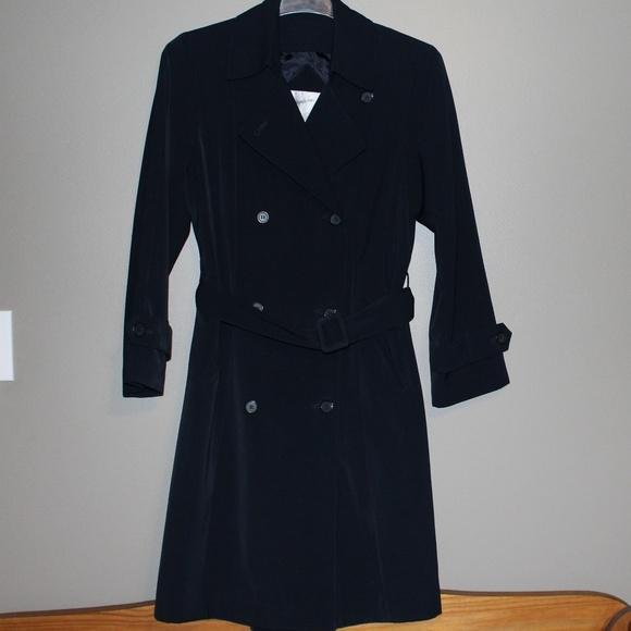 Jacqueline Ferrar Jackets & Blazers - Long Black Belted Trench Coat Size 10